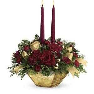 Crimson and Gold Centerpiece